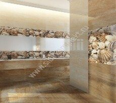 Плитка Sea Breeze Shells Golden Tile